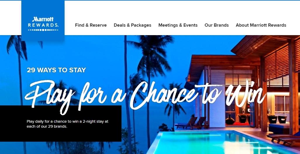 マリオット「29 WAYS TO STAY」キャンペーンでポイント荒稼ぎ!1日1回遊べてポイントや宿泊券がもらえるぞ!